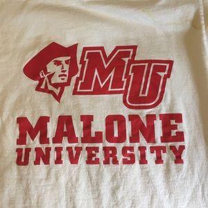 Malone University men's tee shirt
